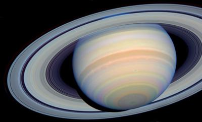 photograph of Saturn