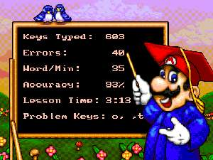 Mario Teaches Typing 2 Screen Shot